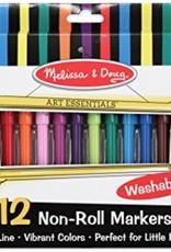 Melissa & Doug Non-Roll Markers (12pc)