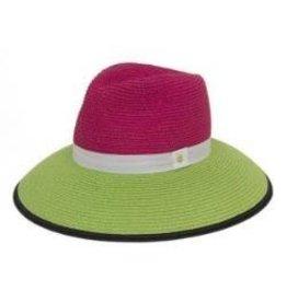 Magid Magid Fuschia Paper Straw Hat