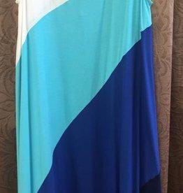 ELLUMINATION ellumiNation - 31511 - Gradational Tank Dress - Blue & White