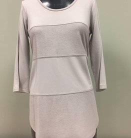 Pure Essence Pure Essence Novelty Tee w/ Comb Flatlock Seaming Scoop Neck 112-4433