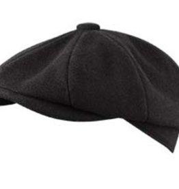 Broner Hats Broner Black 8 QTR Cap, Tie Lined 72-021