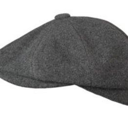 Broner Hats Broner Charcoal 8 QTR Cap, Tie Lined 72-023