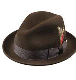 Broner Hats Broner Drk Brown Felt Melodrama 73-3842