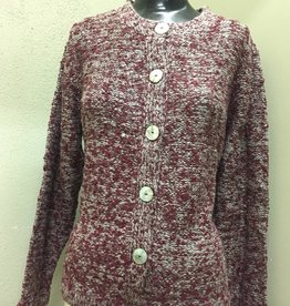 WIND RIVER WindRiver Grey and Maroon Button Front Sweater