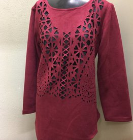 LINDI Lindi- Laser Cut Out Tunic TI736