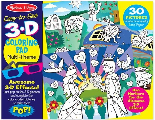 Melissa & Doug 3D COLORING BOOK - GIRLS
