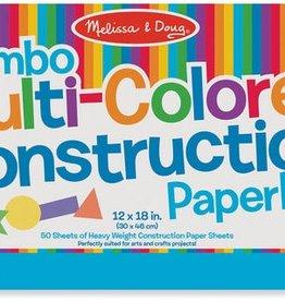 "Melissa & Doug Jumbo Multi-Color Construction Pad (12"" x 18"")"