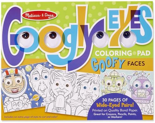 Melissa & Doug WACKY FACES - GOOGLY EYES COLORING - Josephs ...
