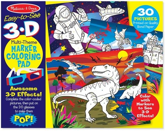 Melissa & Doug Easy-to-See 3-D Kids\' Coloring Pad - Dinosaurs ...