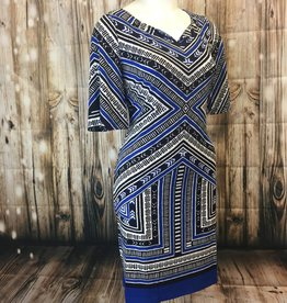 TRIBAL Tribal 2782O-2110 Flutter Sleeve Printed Dress