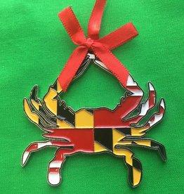 MD Flag crab ornament