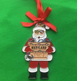 MD Flag  Santa Ornament