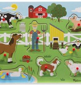 Melissa & Doug Old Macdonalds Farm Sound Puzzle