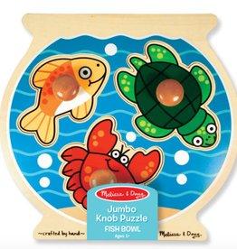 Melissa & Doug Jumbo Knob Puzzle - Fish Bowl