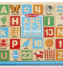 Melissa & Doug ABC-123 Wooden Blocks