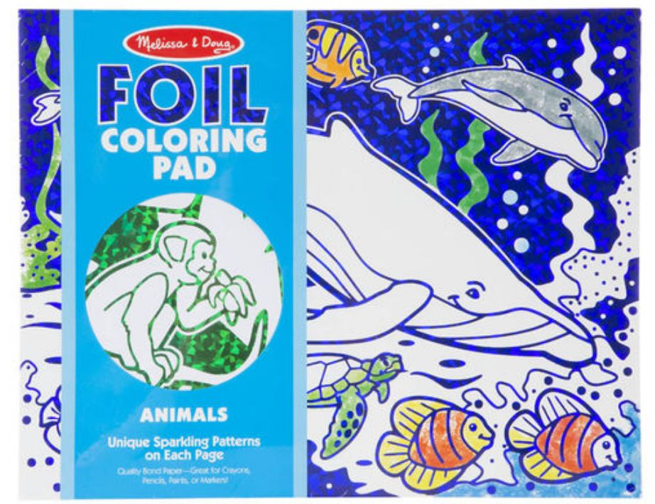 Melissa & Doug Foil Coloring Pad - Animals - Josephs Department Store