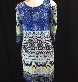 TRIBAL Tribal 2989O-2437 Cold Shoulder Dress W/ Key Hole Detail