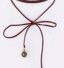 Conchos Wrapped Leather Choker 7166