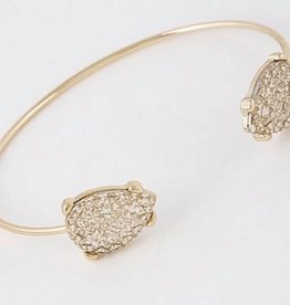 Two-Antique Stone Open Cut Bracelet 7021