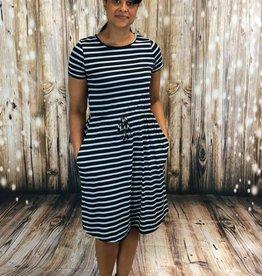 Striped Midi Dress BB802