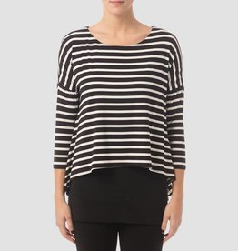 Joseph Ribkoff B/W striped tunic