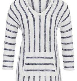 TRIBAL 3/4 Sleeve Striped Hood Sweater 58570-1355