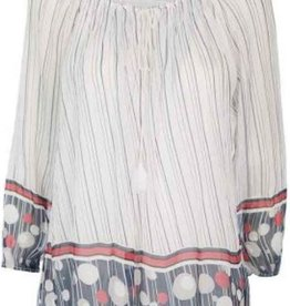 Made In Italy Made In Italy Dot & Stripe Blouse