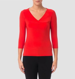 Joseph Ribkoff 3/4 Sleeve V-Neck Top