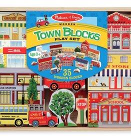 Melissa & Doug Town Blocks Play Set