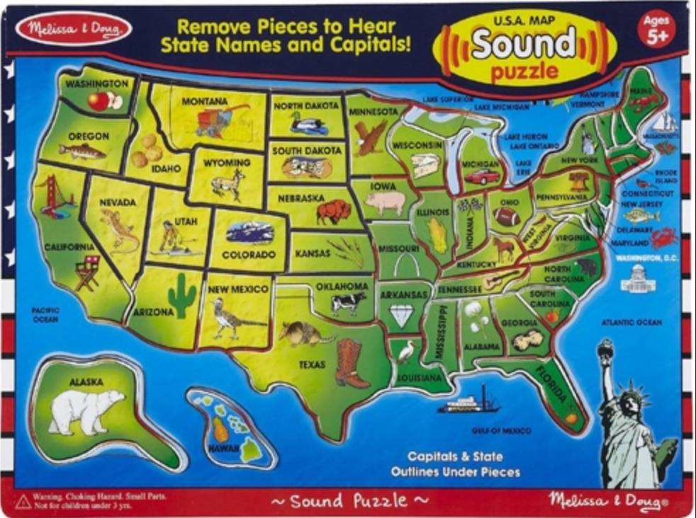 Melissa & Doug Sound Puzzle-USA Map
