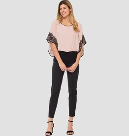 Joseph Ribkoff Ladies Top, Winter Blush/Black 183508