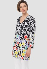 Joseph Ribkoff Ladies Tunic, Black/White/Multi 183575