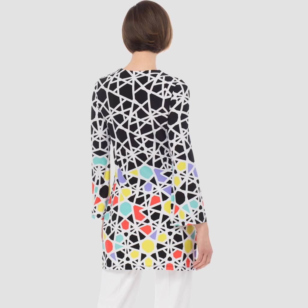 Joseph Ribkoff Ladies Tunic, Black/White/Multi
