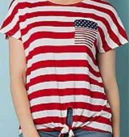 American Flag Tie Tee