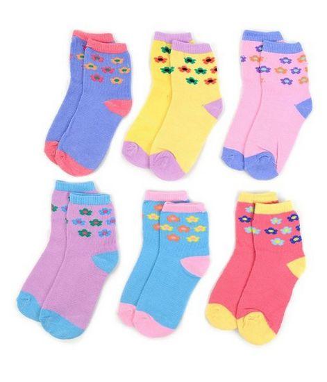 LA Showroom Girls Flower Pattern Socks