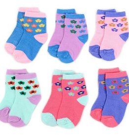 LA Showroom Infant Girls Flower Pattern Socks