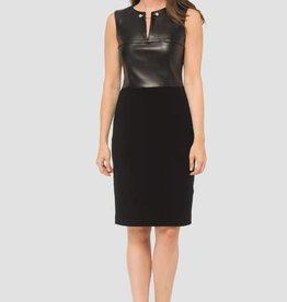 Joseph Ribkoff Leatherette Silky Dress