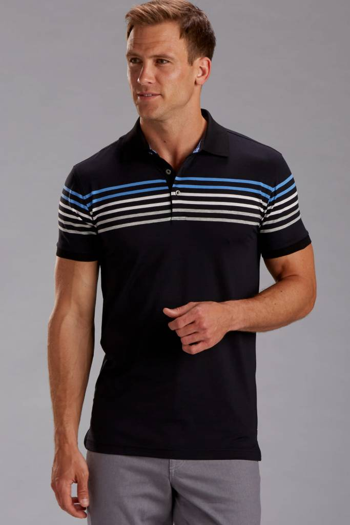 Rule 18 Performance Blend Chest Stripe Shirt