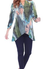 Parsley & Sage Hi-Lo Tunic, Green/Multi