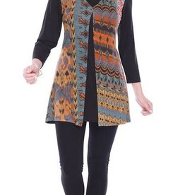 Parsley & Sage Layered Tunic, Red Multi