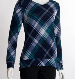 Plaid Tunic W/ Buttons