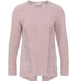TRIBAL L/S Sweater W/ Open Stitch Detail