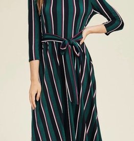 Striped Print Midi Dress - TU