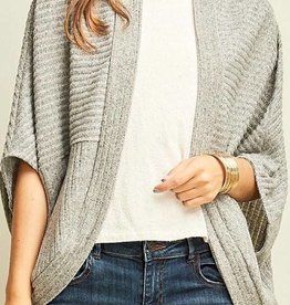 Striped Textured Shrug Cardigan - TU