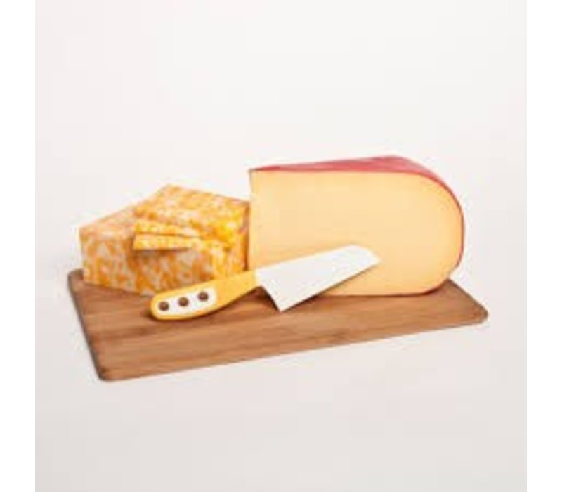 Serrated Cheese Knife Packaged YELLOW- SKP