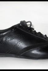 Ballo BALLO CLASSIC- Unisex Ballroom Shoes Suede Sole-BLACK LEATHER