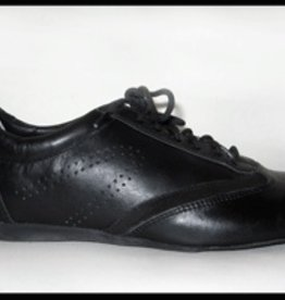Ballo BALLO CLASSIC- Unisex Ballroom Shoes Suede Sole-BLACK LEATHER