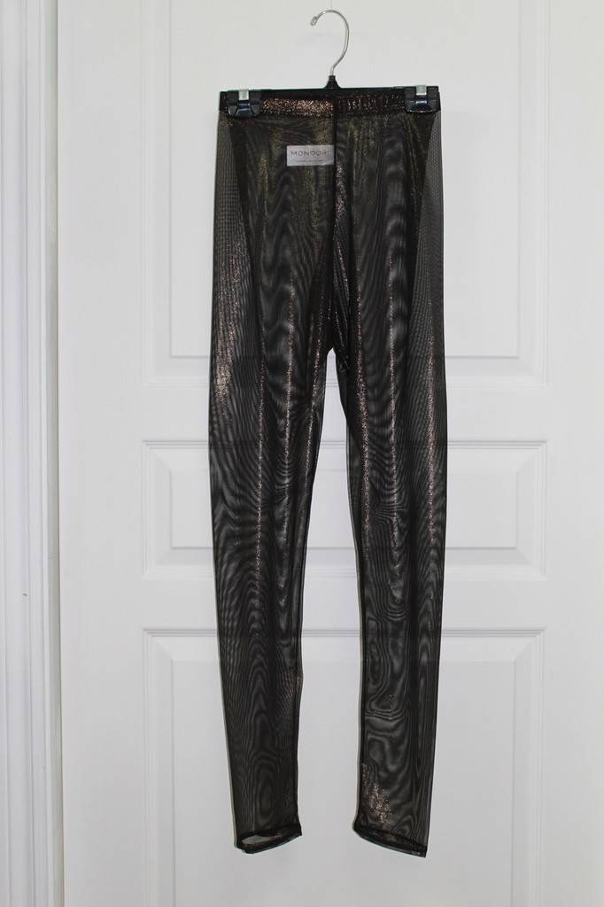 Mondor 6713-Leggings Mesh-BLACK/ GOLD-LARGE