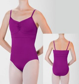 MotionWear 2533-Pinch Front Banded Cami Leo-CANDY PINK-LARGE CHILD
