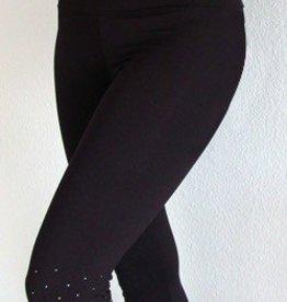 MotionWear 2847-Capri Pants-BLACK-MEDIUM